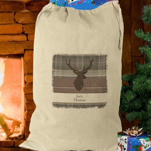 Highland Stag Cotton Sack